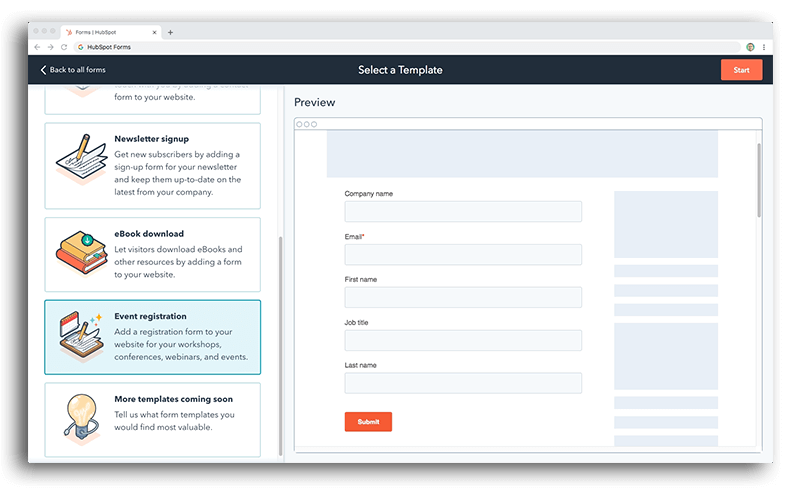 Use your own HubSpot forms
