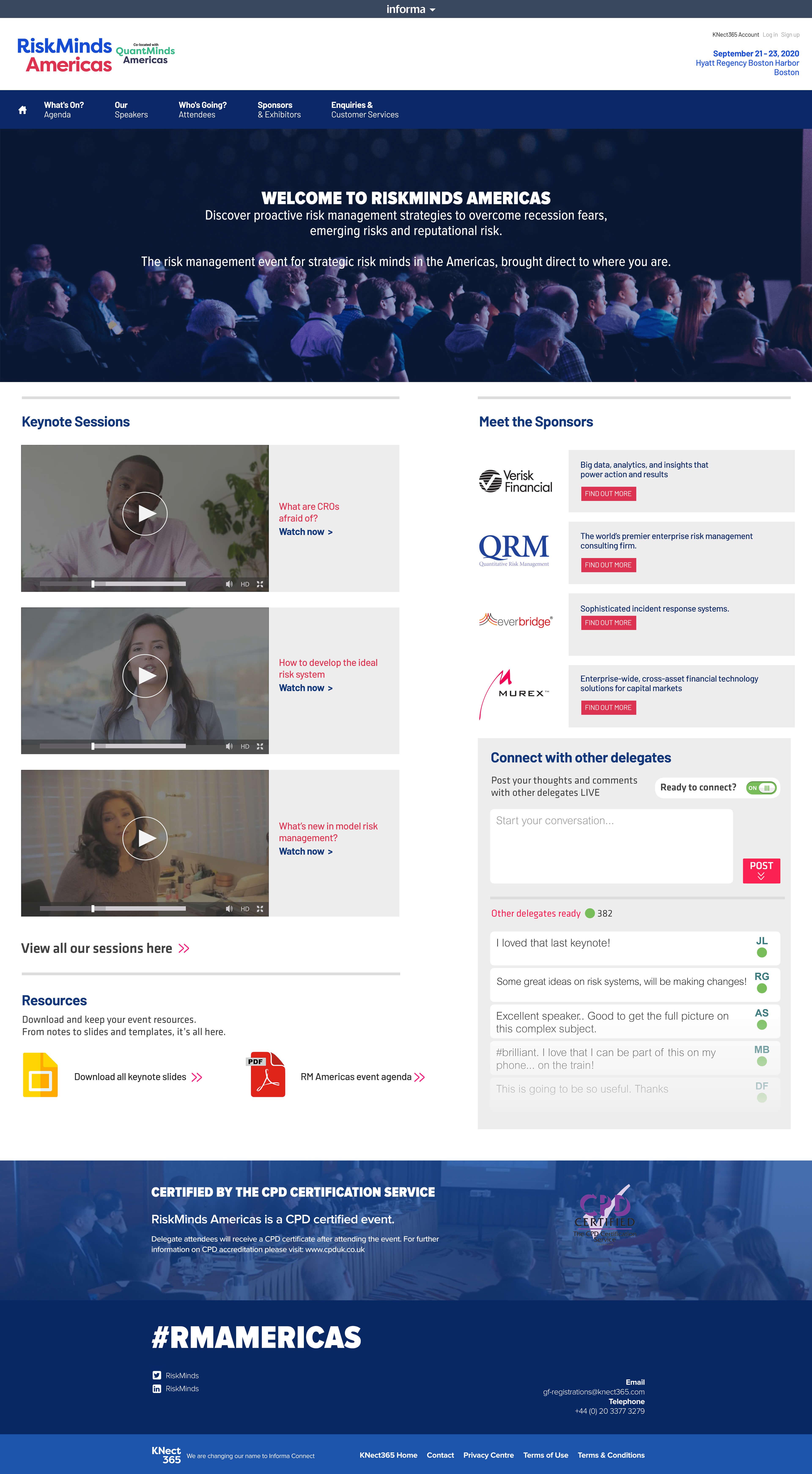 Informa Virtual Event Full Screen
