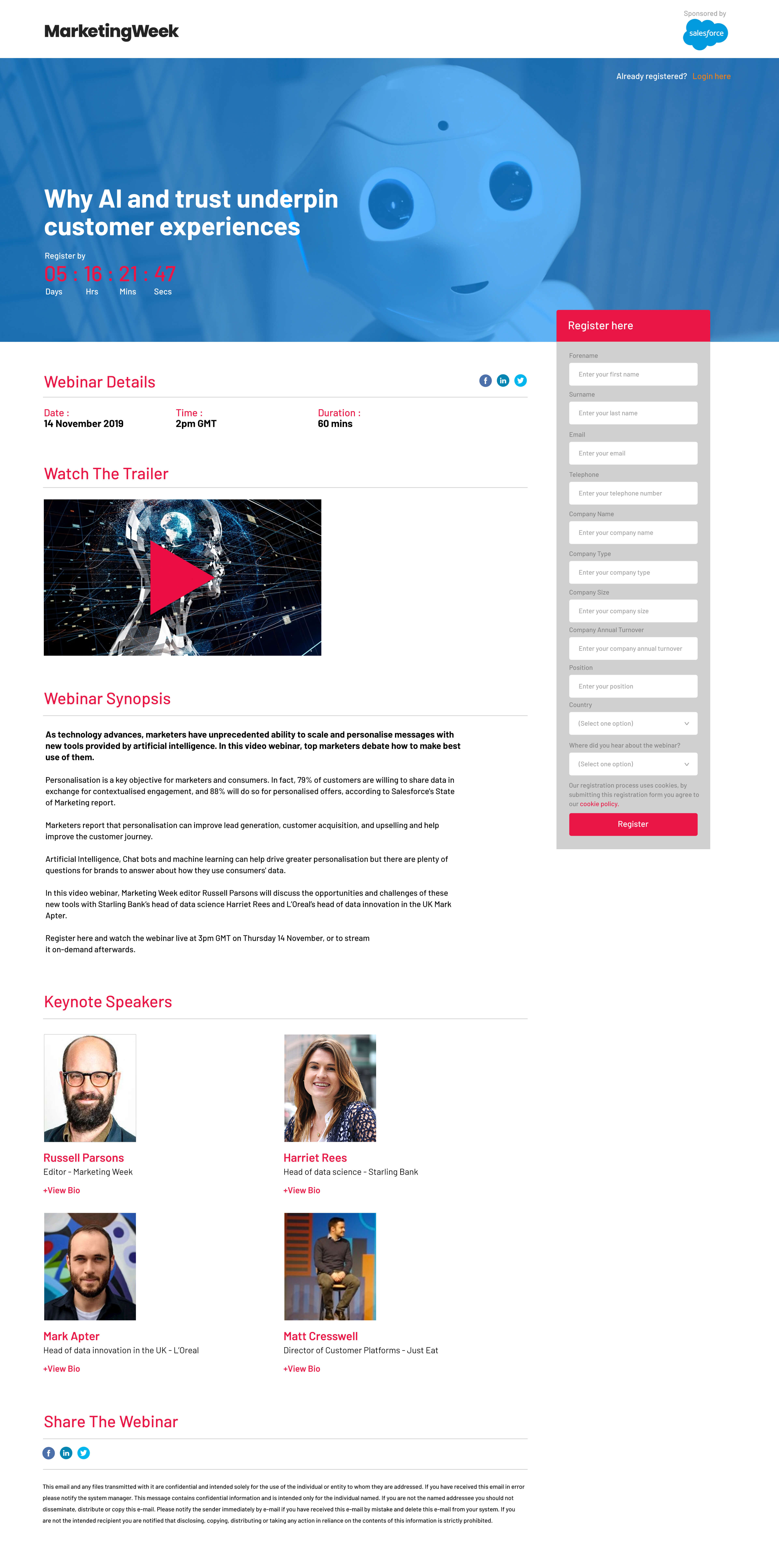 Marketing Week Webinar Page