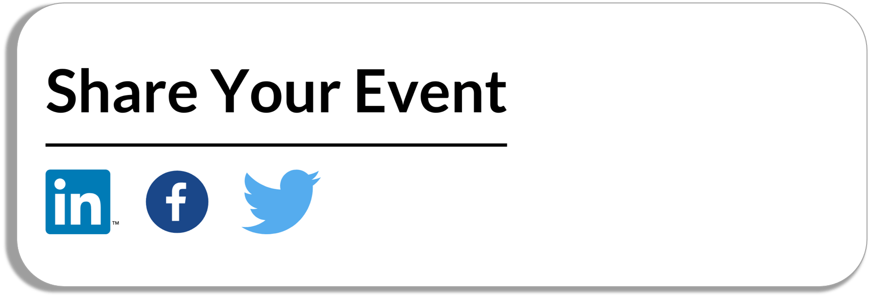 share your event