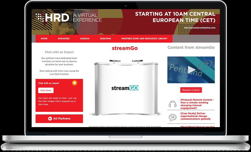 streamGo sponsor booth