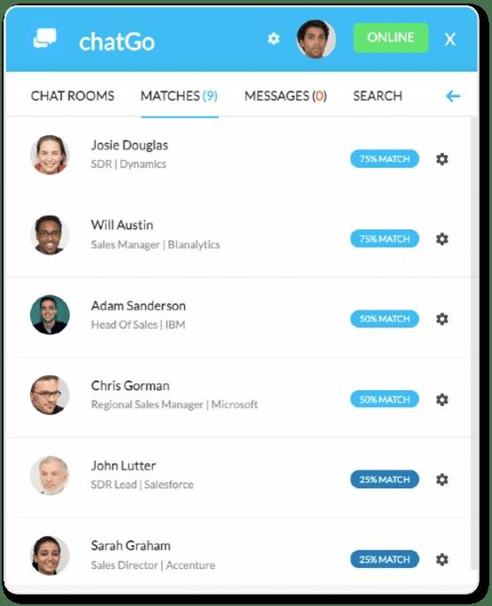 chatGo matchmaking list