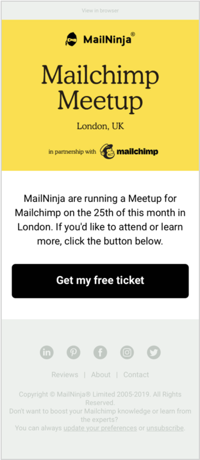 how to write an invitation email for an event