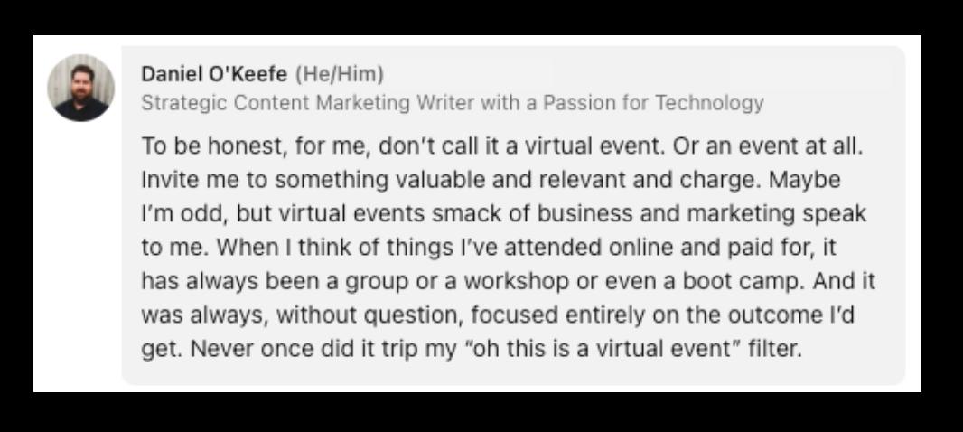 virtual event naming
